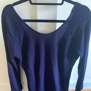 Sparkle & Fade navy blue sweater, gently used